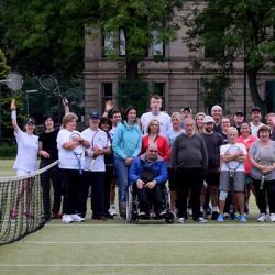 members of Kelvingrove Community Tennis Club